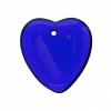 Glass Bead Heart 7X24mm Strung - Cobalt Blue